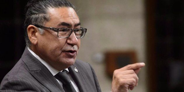 NDP MP Romeo Saganash stands during question period in the House of Commons on Sept. 25,