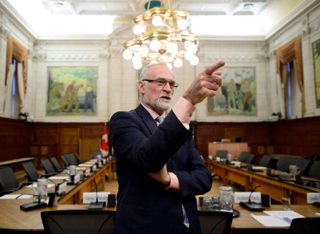 Auditor General Michael Ferguson waits to testify before the House of Commons public accounts committee...