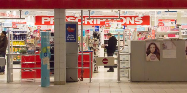 Shoppers browse merchandise at a Shoppers Drug Mart location.