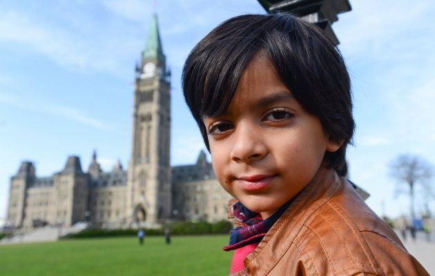 Adam Ahmed, of Markham, Ont., poses for a photo on Parliament Hill in Ottawa on Nov. 8, 2016. Ahmed has...