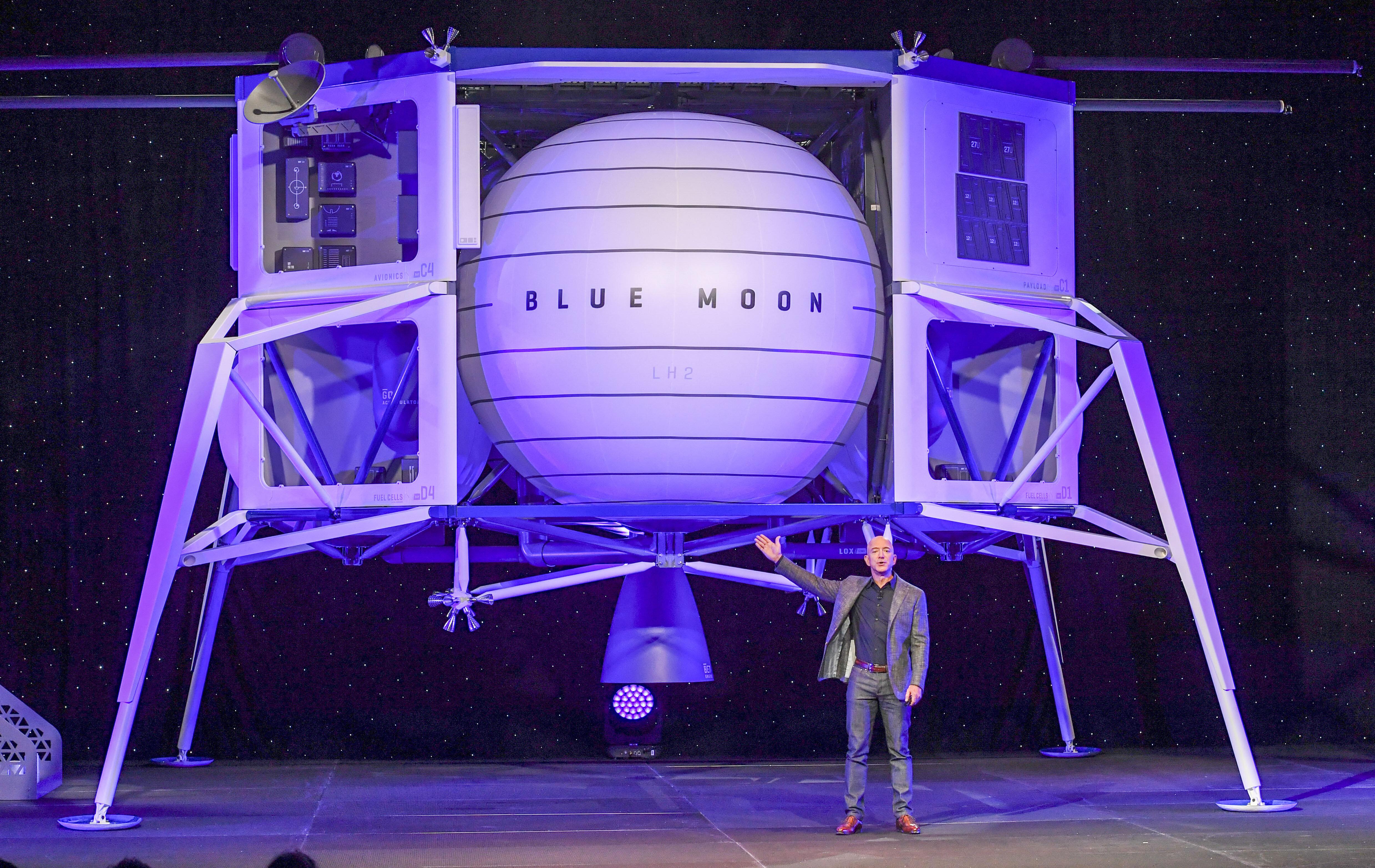 Jeff Bezos à la conquête de la lune avec Blue