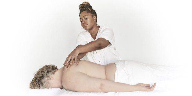 Muluba Habanyama, one of the HIV+ healers, will provide massage services at Casey House's Healing