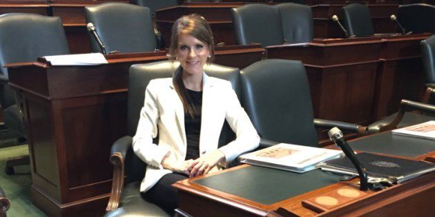 Ontario MPP Amanda Simard is shown in a photo from her Twitter