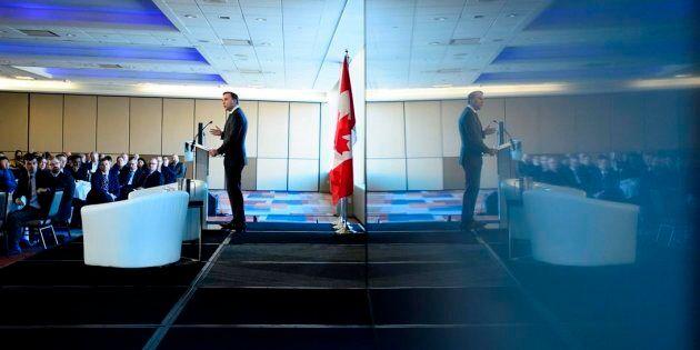 Finance Minister Bill Morneau speaks to the Economic Club of Canada in Ottawa on Nov. 22,