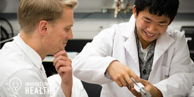 University of Calgary students work in the lab during the Health Hack 72-hour challenge in