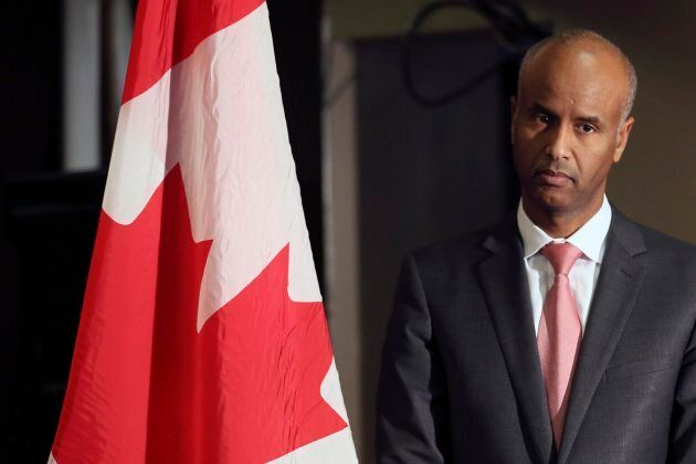 TORONTO, ON - DECEMBER 3 - Ahmed Hussen, Minister of Immigration, Refugees and Citizenship prior to announcing...