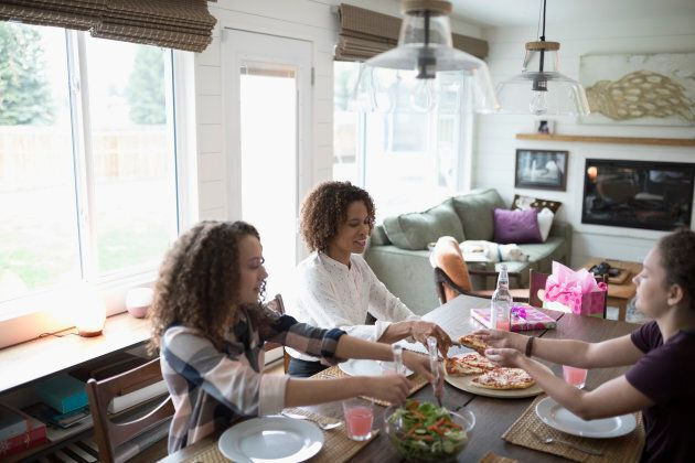 Teens are more likely to eat more fruits and vegetables if they have regular family meals, new research shows.