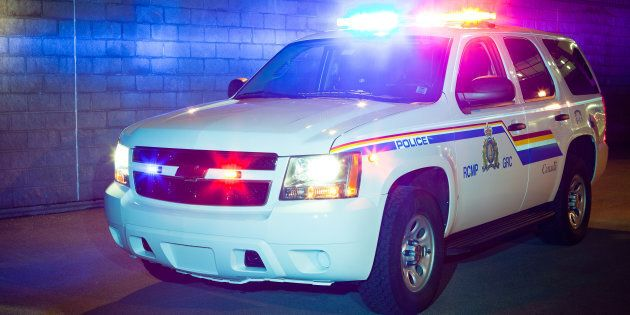 File photo of a RCMP vehicle is parked outside of building in