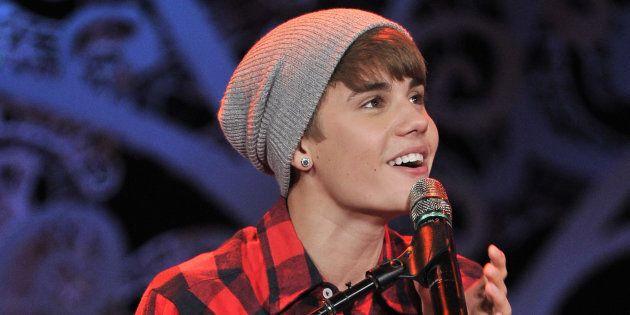 Justin Bieber at Massey Hall on Dec. 21, 2011 in Toronto.