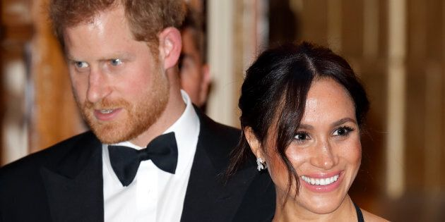 Meghan, Duchess of Sussex and Prince Harry, Duke of Sussex attend The Royal Variety Performance 2018 at the London Palladium on November 19, 2018 in London.