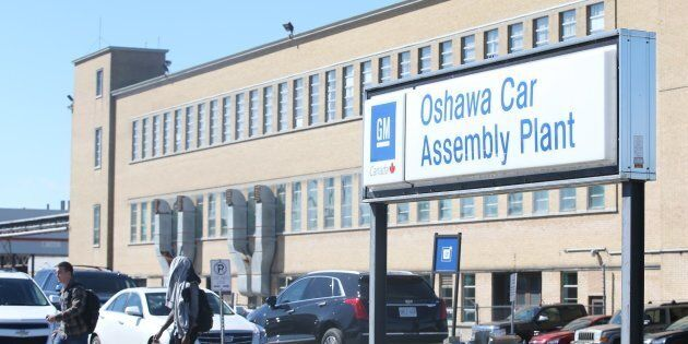 The General Motors Oshawa Assembly Plant is pictured in