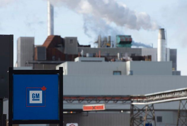 The GM plant in Oshawa on Jan. 24,