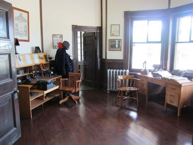 A former ticket agent's booth is seen on June 16, 2012 inside the historic McAdam railway station, which Mayor Ken Stannix estimates draws about 30,000 visitors a year.