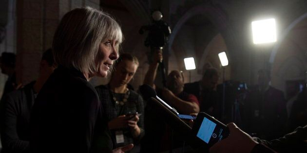 Labour Minister Patricia Hajdu speaks about back to work legislation on Nov. 23, 2018 in