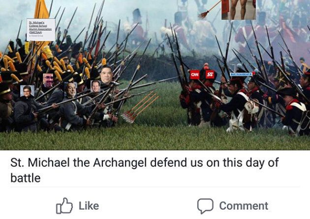 St. Michael's College School confirmed the images were posted by an alumnus under a fake name. This image is a cropped version of the original post.