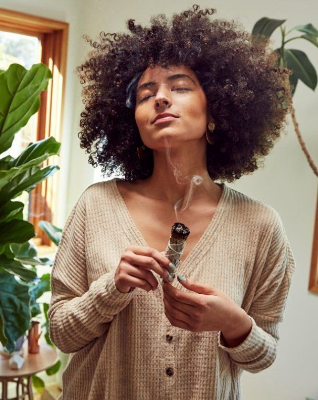 "Urban Outfitters still sells their ""White Sage Incense Stick,"" and this is one of the photos used to market the products."