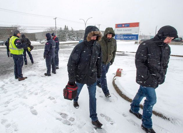 Employees in Montreal return to work after the government ordered them to end their rotating strike on...