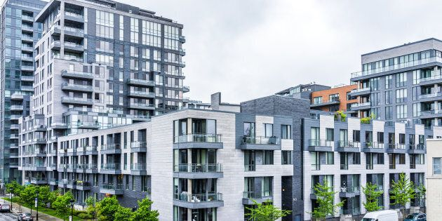 A modern apartment complex is pictured in Montreal. Canada's overall vacancy rate dropped for a second...