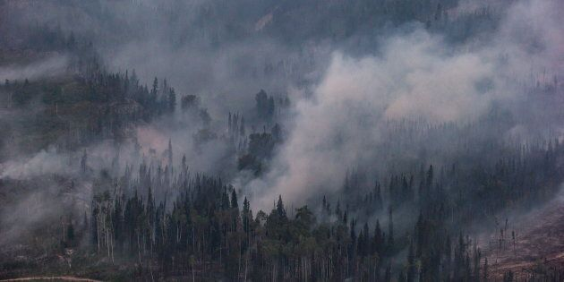 Wildfires in Fort Fraser, B.C., Aug. 2018. A Lancet report says the health effects of climate change...