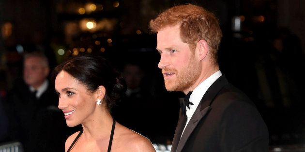Prince Harry, the Duke of Sussex and Meghan, the Duchess of Sussex attend the Royal Variety Performance...