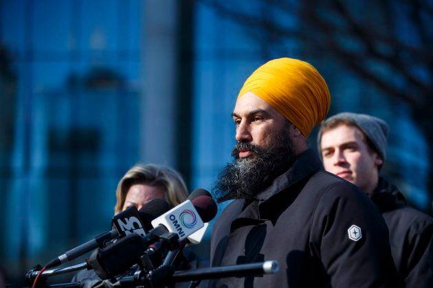 Federal NDP leader Jagmeet Singh speaks during a press conference in Toronto on Nov. 22,