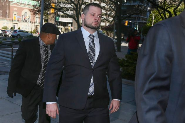 James Forcillo arrives at the Toronto courthouse on May 16, 2016.