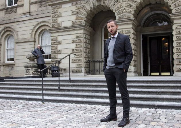 Vice Media journalist Ben Makuch is seen outside the Ontario Court of Appeal on Feb. 6,