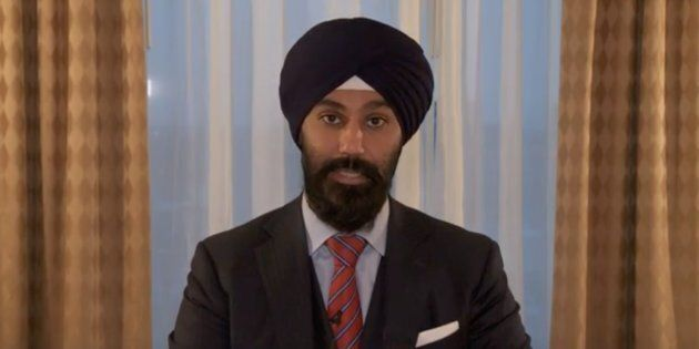 Brampton East MP Raj Grewal issued a video statement on