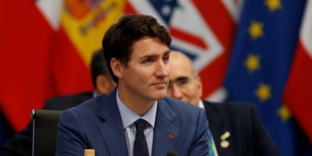 Prime Minister Justin Trudeau attends a special session entitled 'Fair And Sustainable Future' as part...