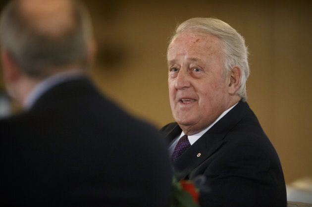 Brian Mulroney, Canada's former prime minister, speaks during the Canadian Council for the America's...