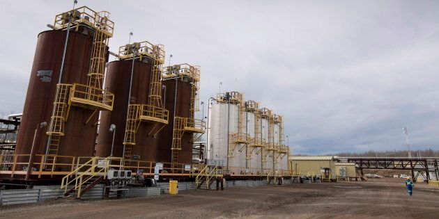 The Shell Groundbirch Saturn natural gas plant outside of Fort St. John, B.C. on Oct. 11,
