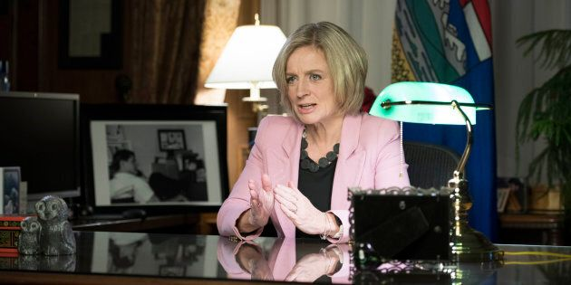 Alberta Premier Rachel Notley announces a mandatory cut in oil
