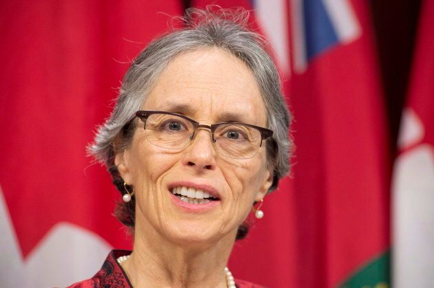 Dianne Saxe, Environmental Commissioner of Ontario, releases her annual environmental protection report at a news conference at the Ontario legislature in Toronto on Nov. 13, 2018.