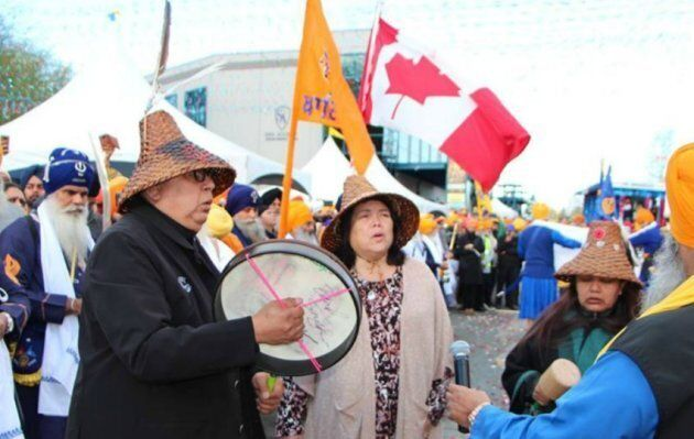 First Nation reps open the Surrey Khalsa Day Parade.