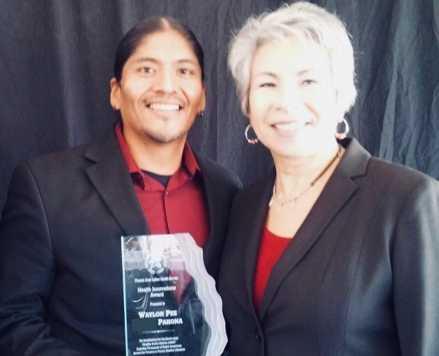 'Healthy Active Natives' won an award from Indian Health Services (similar to Canada's First Nations Health Authority). Left, Waylon Pahona.