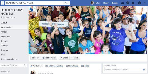 'Healthy Active Natives' Facebook group