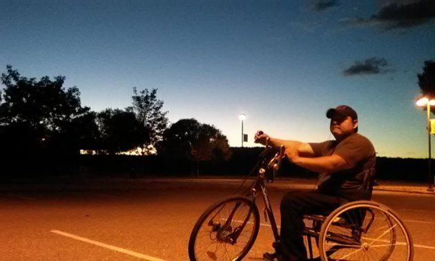 'Healthy Active Natives' Facebook Group fundraised to help one of their members get back to cycling after he was involved in an accident.