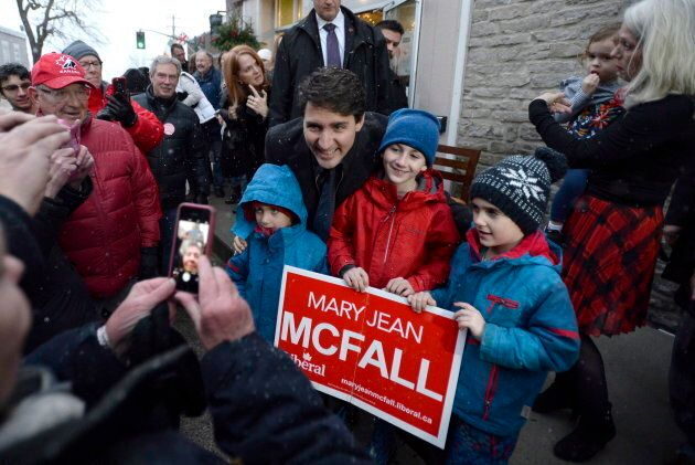 PM Trudeau campaigned with Mary Jean McFall, Liberal candidate for Leeds Grenville Thousand Islands and...