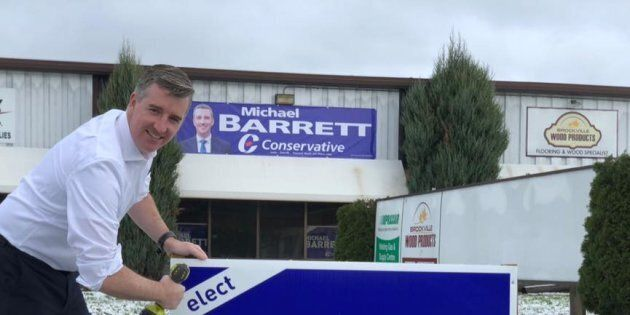 Conservative candidate Michael Barrett, a municipal councillor, has claimed a commanding lead in the...