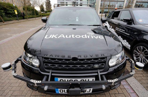 A Range Rover self-driving car.