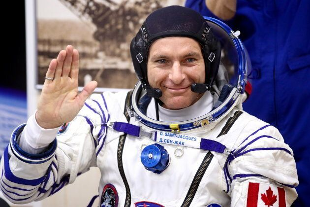 Canadian Space Agency astronaut David Saint-Jacques before a launch to the International Space Station, at the Baikonur Cosmodrome in Kazakhstan on Dec. 3, 2018.