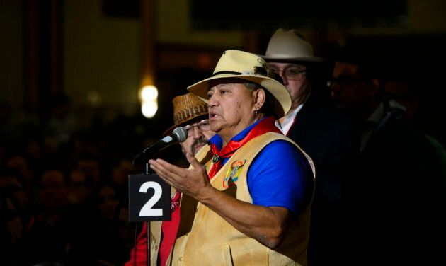Chief Wayne Christian of Splatsin First Nation in Ottawa on Dec. 4,