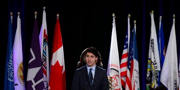 PM Trudeau addresses the Assembly of First Nations Special Chiefs Assembly in Ottawa on Dec. 4,