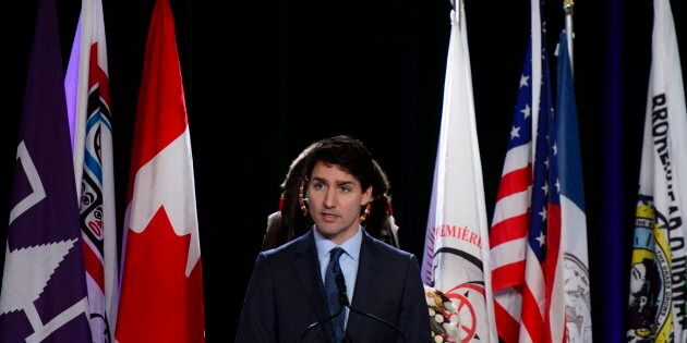 Prime Minister Justin Trudeau addresses the Assembly of First Nations Special Chiefs Assembly in Ottawa...