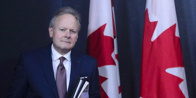 Stephen Poloz, Governor of the Bank of Canada, holds a press conference at the National Press Theatre...