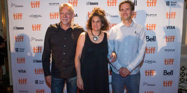 Anthropocene directors Edward Burtynsky, Jennifer Barchwal and Nicholas de Pencier at
