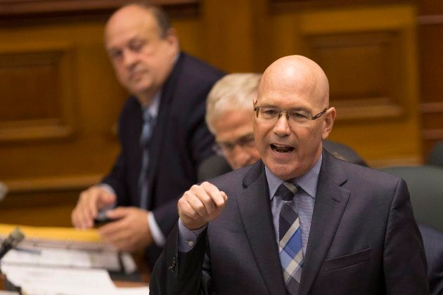 Steve Clark, Ontario minister of municipal affairs, responds during question period at Queen's Park in...