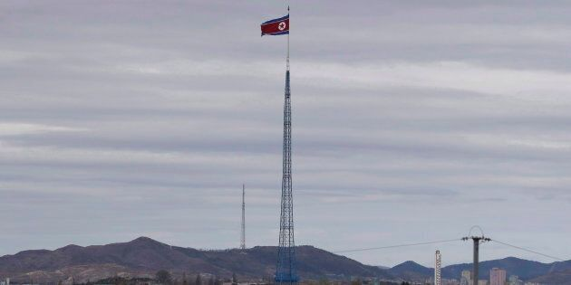 Gijungdongseen, North Korea, as seen from the Taesungdong freedom village inside the demilitarized zone...