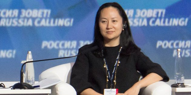 Meng Wanzhou, chief financial officer of Chinese technology giant Huawei, attends a session of the VTB...