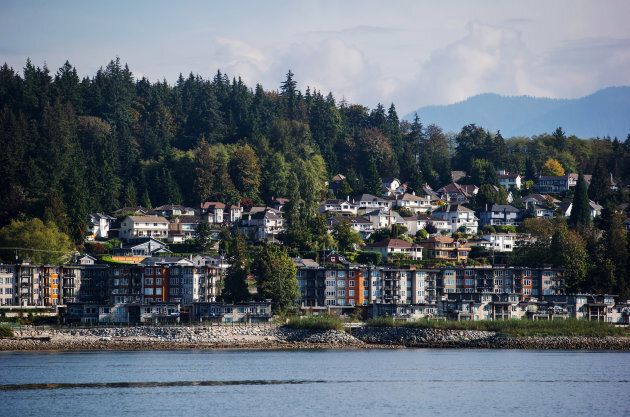 Apartment buildings and single family houses in North Vancouver, B.C., Wed., Sept.